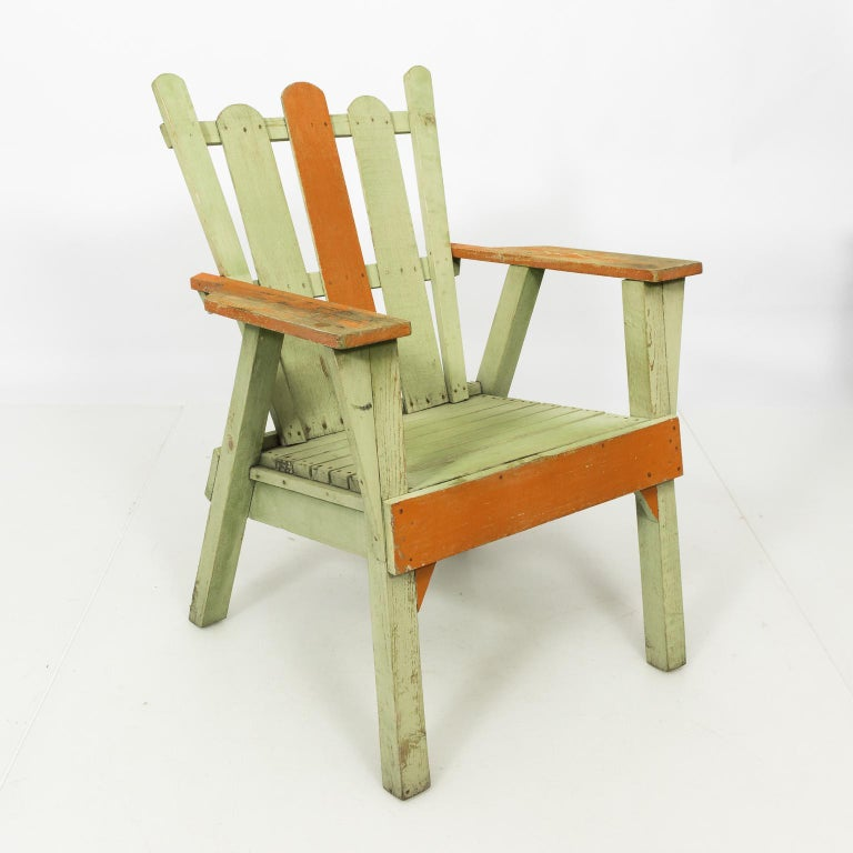 Painted 1940s Adirondack Lounge Chairs For Sale