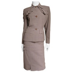 1940s Adrian Detail Skirt Suit