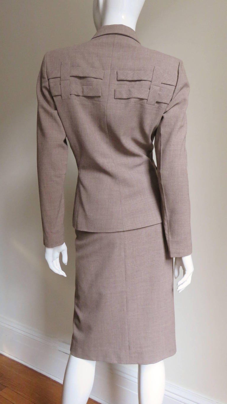 1940s Adrian Detail Skirt Suit For Sale 5