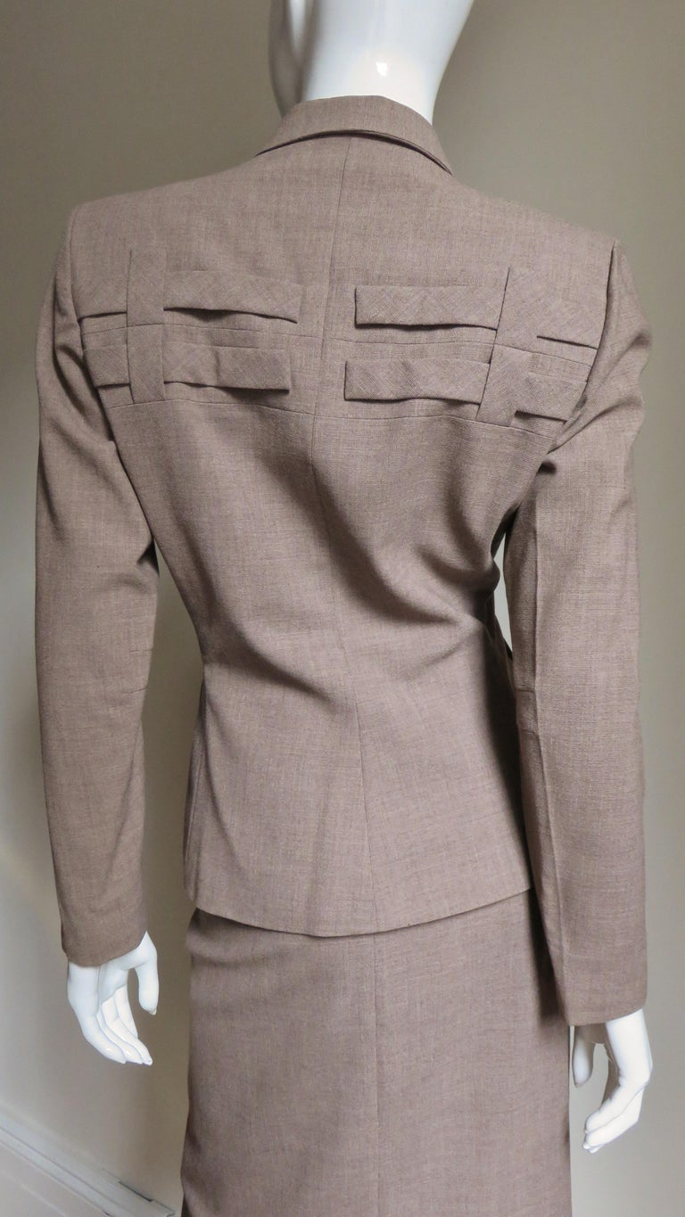 1940s Adrian Detail Skirt Suit For Sale 6