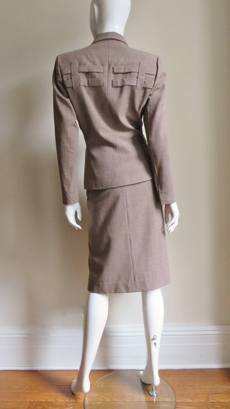 1940s Adrian Detail Skirt Suit For Sale 8