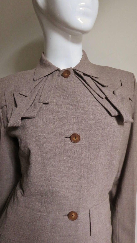 Women's 1940s Adrian Detail Skirt Suit For Sale