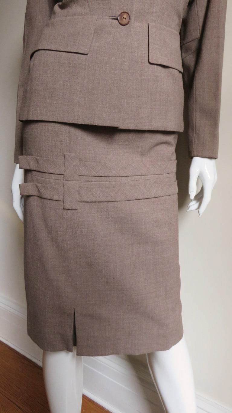 1940s Adrian Detail Skirt Suit For Sale 1