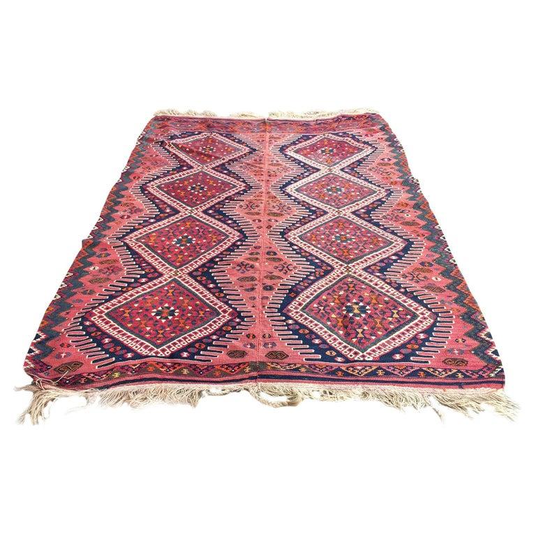 1940s Afghan Kilim Rug For Sale At 1stdibs