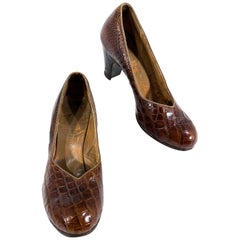 1940s Alligator Pumps