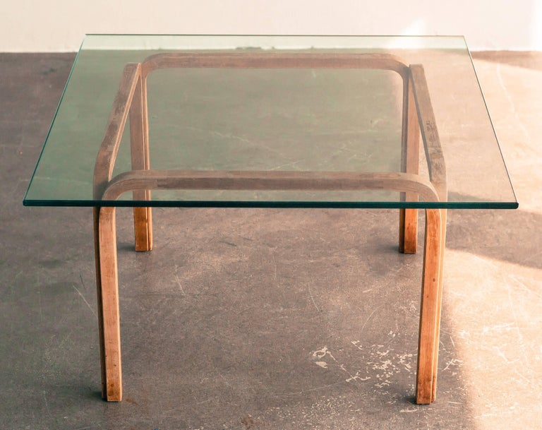 Early side table, designed by Alvar Aalto in 1946. 