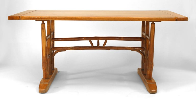 1940 S American Old Hickory Co Dining Table For Sale At 1stdibs