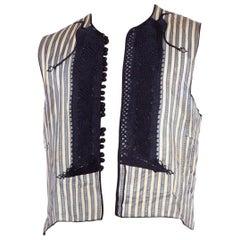 1940's Antique Eastern European Hand Embroidered Silk Folk Vest