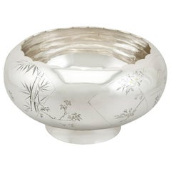 1940s, Antique Japanese Silver Presentation Bowl