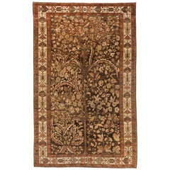 1940s Antique Persian Rug Bakhtiar Design with 'Tree of Life' Floral Patterns