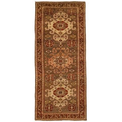 1940s Antique Persian Rug Ghafghaz Design with Splendid Tribal Traditional Patte