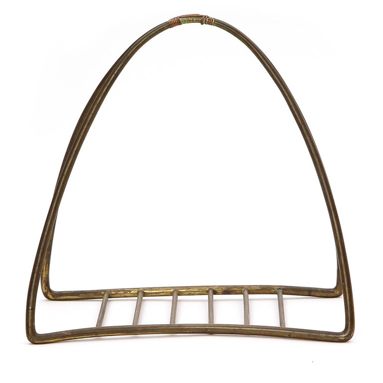 Mid-20th Century 1940s Austrian Fireplace Accessory Log Holder by Karl Hagenauer For Sale