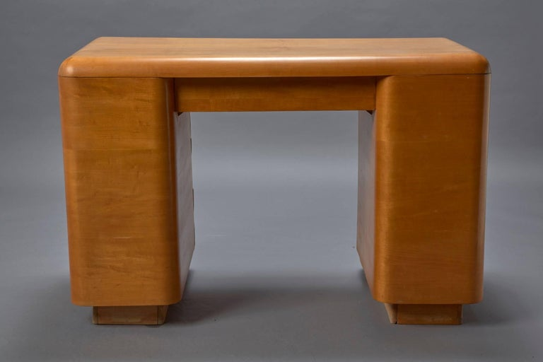 American 1940s Bentwood Mid-Century Modern Writing Desk by Paul Goldman for Plymold For Sale
