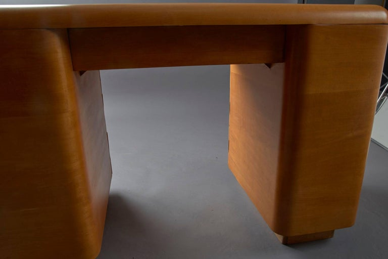 Mid-20th Century 1940s Bentwood Mid-Century Modern Writing Desk by Paul Goldman for Plymold For Sale