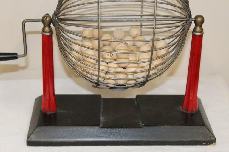 American 1940s Bingo Cage For Sale