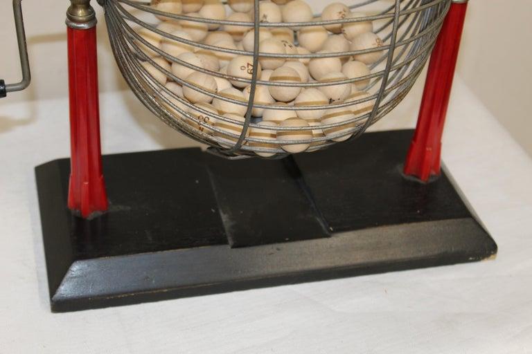 Steel 1940s Bingo Cage For Sale