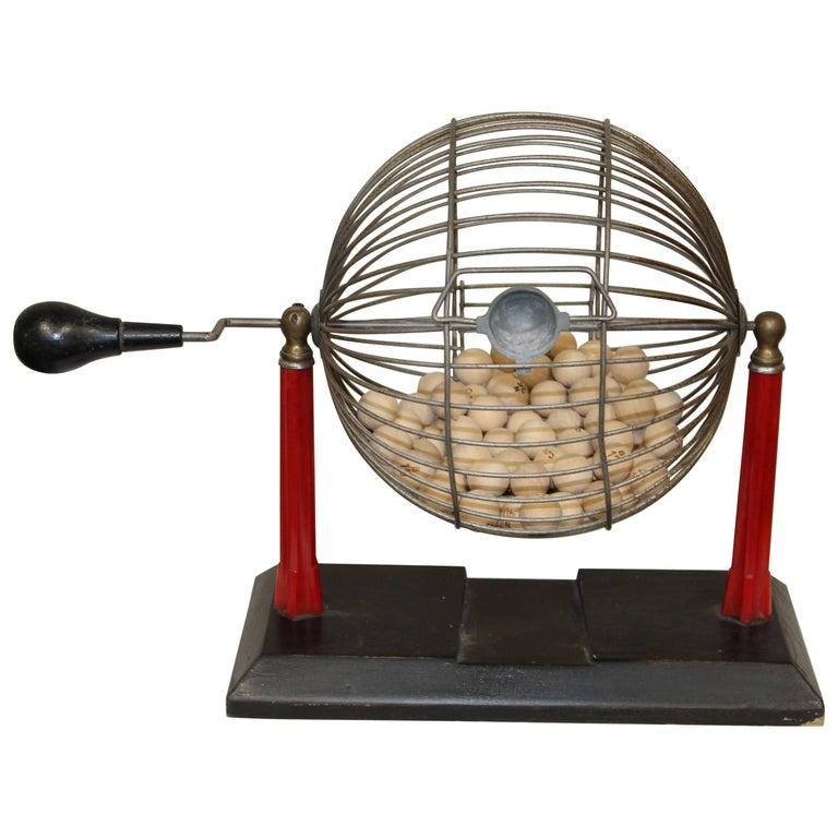 1940s Bingo Cage For Sale