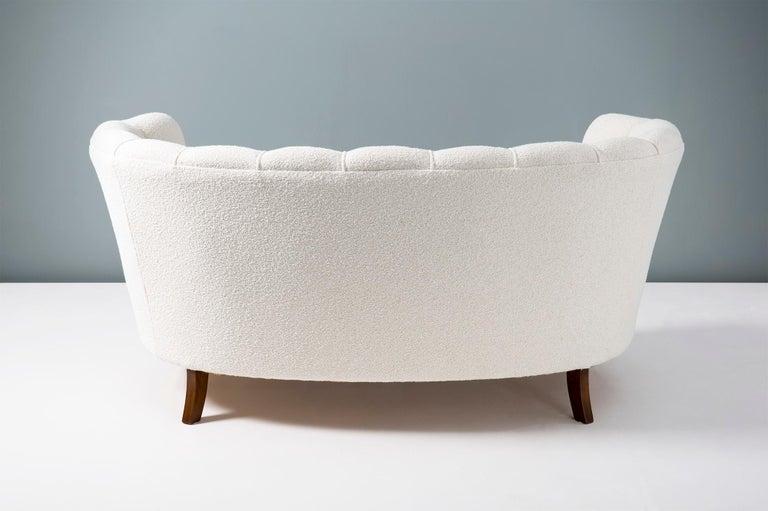 1940s Boucle Wool Danish Loveseat Sofa For Sale 4