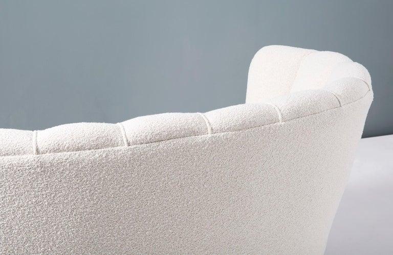 1940s Boucle Wool Danish Loveseat Sofa For Sale 5