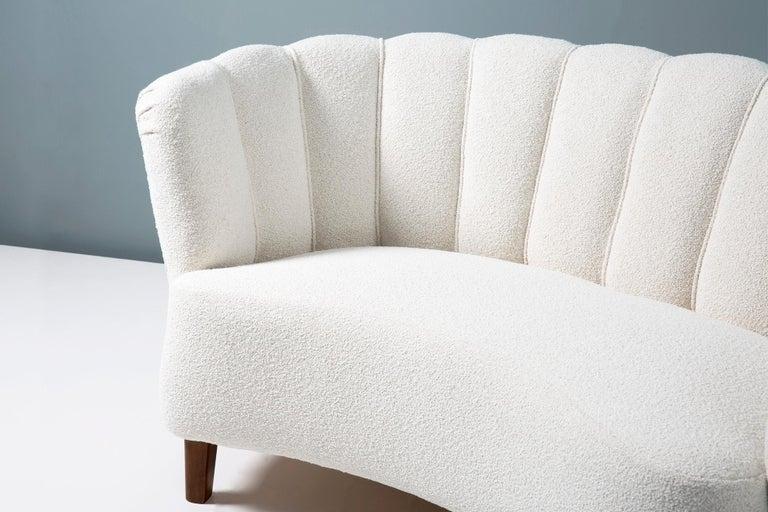 1940s Boucle Wool Danish Loveseat Sofa For Sale 1