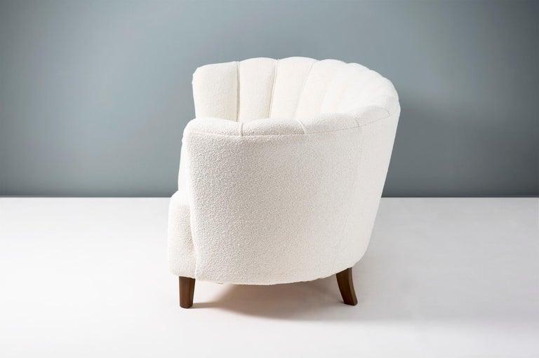 1940s Boucle Wool Danish Loveseat Sofa For Sale 2