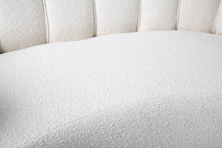 1940s Boucle Wool Danish Loveseat Sofa For Sale 3