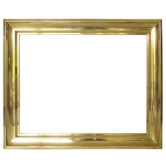 1940s Brass Frame for Painting Drawing or Mirror