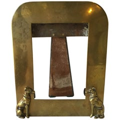 1940s Brass Greyhound Dog Frame