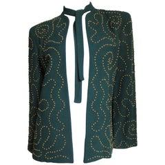 1940s Brass Studded Jacket