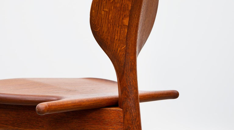 1940s Brown Oak and Teak Valet Chair by Hans Wegner 'b' For Sale 6