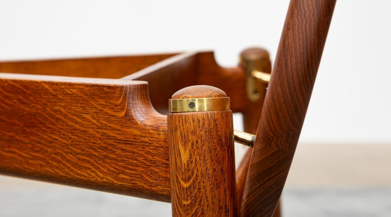 1940s Brown Oak and Teak Valet Chair by Hans Wegner 'b' For Sale 8