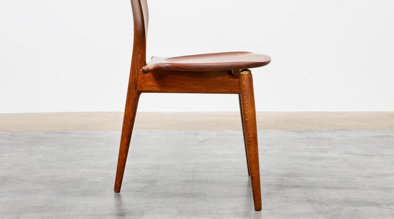 1940s Brown Oak and Teak Valet Chair by Hans Wegner 'b' For Sale 10