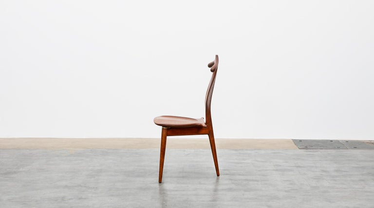 Mid-Century Modern 1940s Brown Oak and Teak Valet Chair by Hans Wegner 'b' For Sale