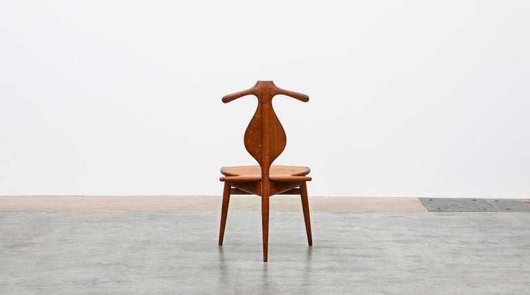 1940s Brown Oak and Teak Valet Chair by Hans Wegner 'b' In Good Condition For Sale In Frankfurt, Hessen, DE