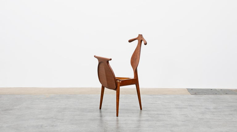 Mid-20th Century 1940s Brown Oak and Teak Valet Chair by Hans Wegner 'b' For Sale