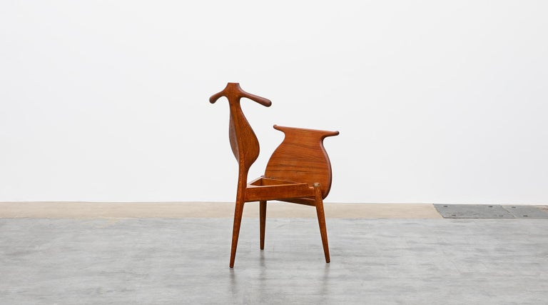 1940s Brown Oak and Teak Valet Chair by Hans Wegner 'b' For Sale 1