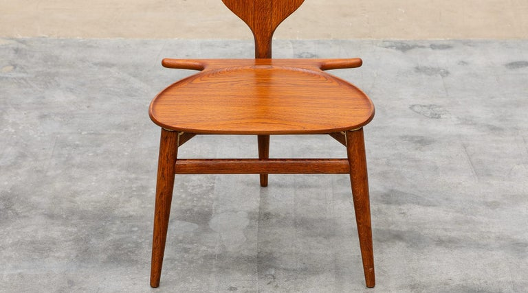1940s Brown Oak and Teak Valet Chair by Hans Wegner 'b' For Sale 3