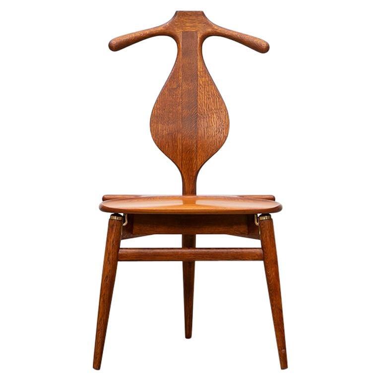 1950s Brown Oak and Teak Valet Chair by Hans Wegner 'b'
