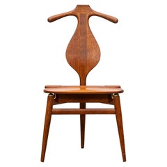 1940s Brown Oak and Teak Valet Chair by Hans Wegner 'b'