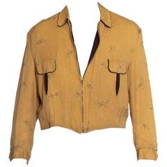 1940S Brown Reversable  Rayon Gabardine Men's Jacket
