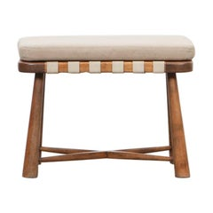 1940s Brown Wooden Stool in the Style of Philip Arctander