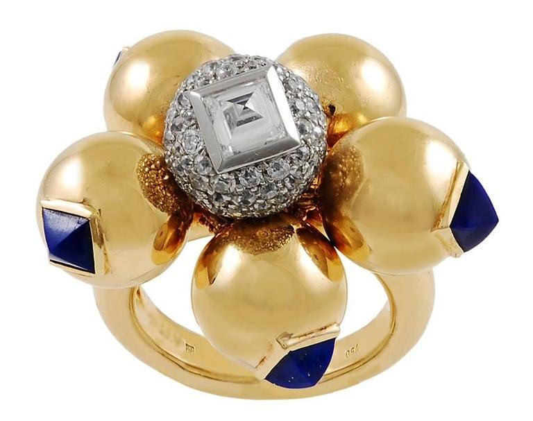 Women's 1940s Cartier Diamond and Lapis Lazuli Bracelet Suite For Sale