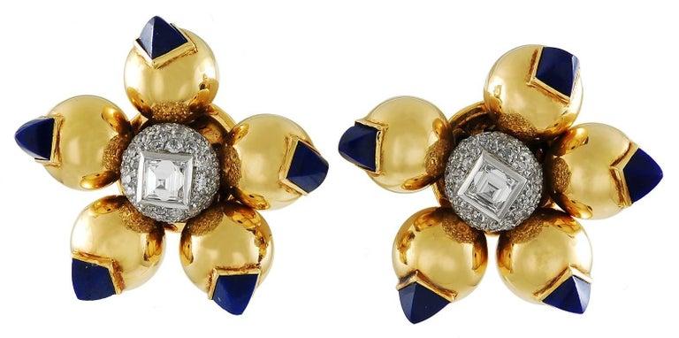 1940s Cartier Diamond and Lapis Lazuli Bracelet Suite For Sale 1