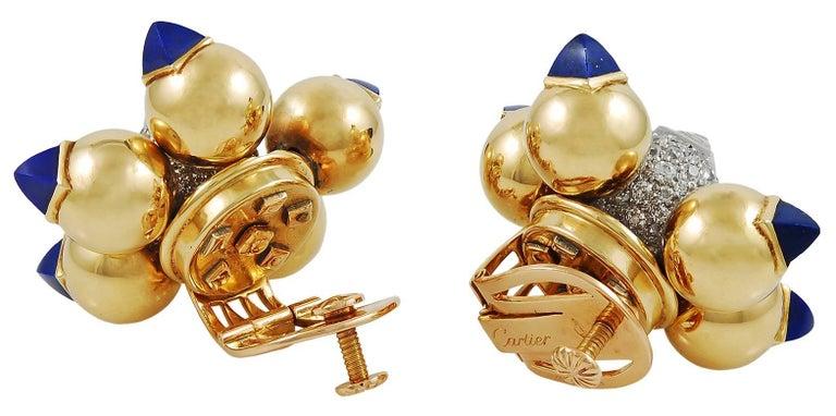 1940s Cartier Diamond and Lapis Lazuli Bracelet Suite For Sale 2
