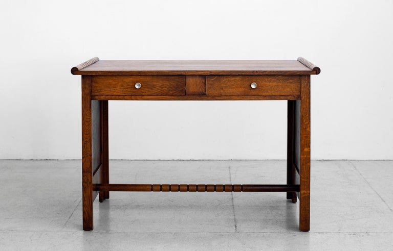 Mid-20th Century 1940s Charles Dudouyt Desk For Sale
