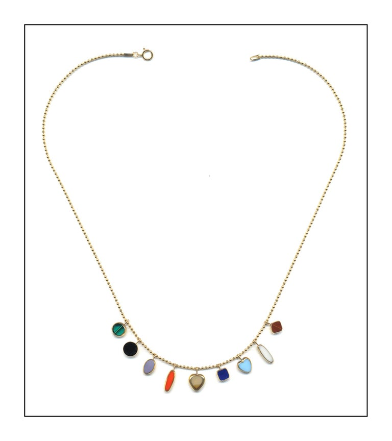 Vintage German glass beads, 24k gold bead edging, 14k gold fill chain and findings