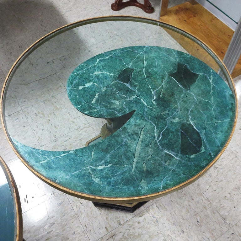 1940' Chinese Stone Dragons Side Tables For Sale 3