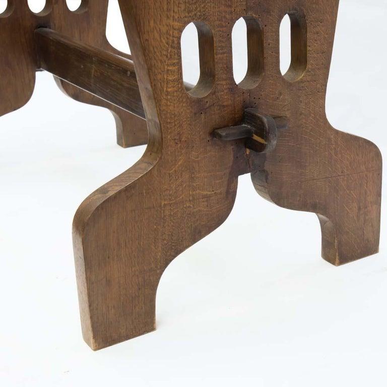 Mid-20th Century 1940s Coffee Table Oak Structure Glass Top Italian, Gio Ponti for Fontana Arte For Sale