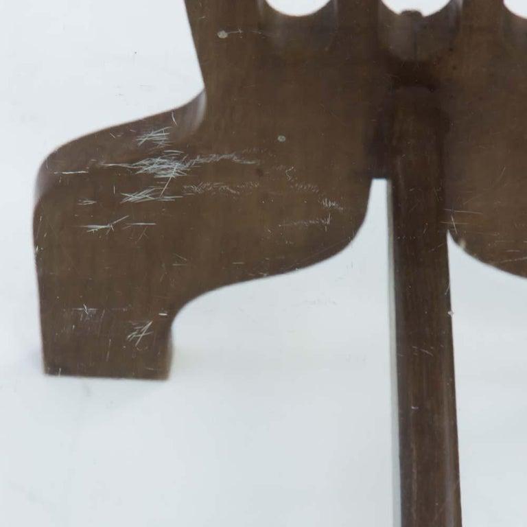 1940s Coffee Table Oak Structure Glass Top Italian, Gio Ponti for Fontana Arte For Sale 4