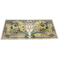 1940s Colorful Ornate Floor Mural Tile Set